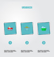 set of hygiene icons flat style symbols with hand vector image