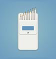 set of lead pencils in a white school pocket vector image vector image
