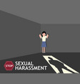 sexual harassment poster with girl vector image