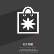 shopping bag icon symbol Flat modern web design vector image