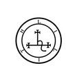 sigil lilith- female demon lilith symbol vector image vector image