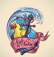Sink or Swim - tattoo design vector image vector image