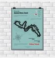 speed line track wallpaper plackard vector image vector image