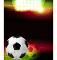 Spotlights and a soccer ball vector image vector image