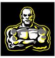 strong muscular man esport vector image vector image