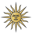 symbol sun vector image vector image