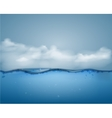 Underwater part and clouds vector image vector image