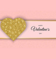 valentine day greeting card festive card for vector image