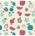 vintage fruit wallpaper vector image vector image