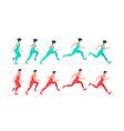 woman and man run vector image vector image