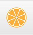 yellow orange fruit icon isolated modern simple f vector image