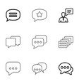 9 chatting icons vector image vector image