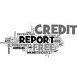 a credit card required for a free credit report vector image vector image