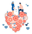 a loving couple former repairing a broken vector image vector image