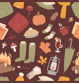 autumn items seamless pattern texture vector image
