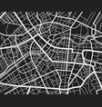 black and white travel city map urban transport vector image vector image