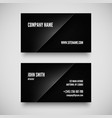Black business card template vector image vector image