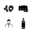 boxing simple related icons vector image vector image
