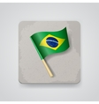 Brazil flag icon vector image vector image