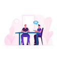 business meeting process couple office workers vector image