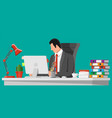 businessman at work vector image vector image