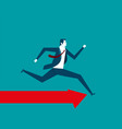 businessman running vector image vector image