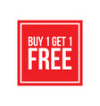 buy one get one free sign numbers square vector image vector image