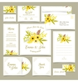 Collection of wedding invitations vector image vector image