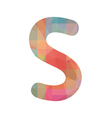 Colorful alphabet S vector image