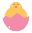 cute beautiful bachicken isolated on white vector image vector image
