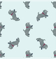 cute dogs characters seamless vector image vector image