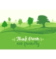 Drawn green background eco vector image vector image