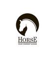 emblem horse head vector image vector image
