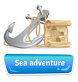 exciting sea adventures and travel poster marine vector image