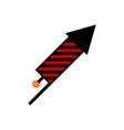 fireworks rocket icon vector image