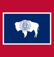 flag usa state wyoming vector image
