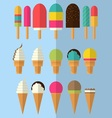 Flat Design Ice Cream Colletcion vector image vector image