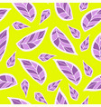 flowers petals purple on a bright yellow vector image vector image