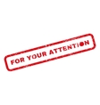 For Your Attention Rubber Stamp vector image vector image