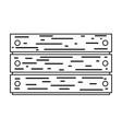 garden wooden box icon vector image