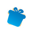 gift icon logo vector image