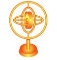 Golden gyroscope vector image vector image