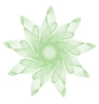 green abstract mandala vector image