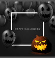 happy halloween symbol or banner vector image vector image