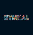 hymnal concept word art vector image vector image