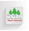 Icon Merry Christmas vector image vector image