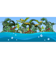 island with palm trees and tropical plants vector image vector image