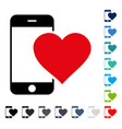 lovely smartphone icon vector image