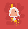 Lucky White Monkey Chinese New Year 2016 vector image vector image