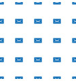 mail icon pattern seamless white background vector image vector image
